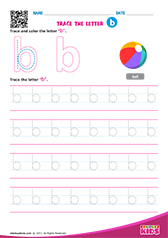 Write lowercase letter b